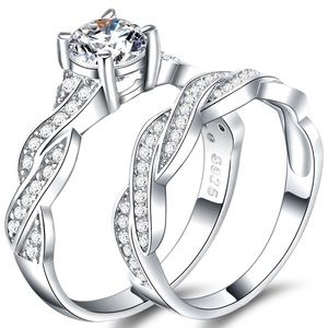 High Quality 925 Sterling Silver Diamond Ring